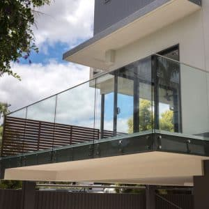 Fixed pin frameless Glass Balustrades