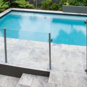 Semi framed glass pool fence