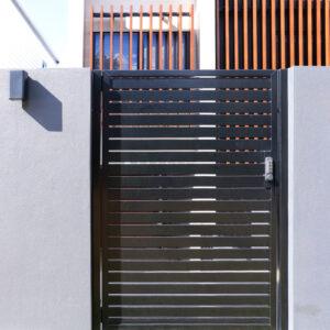 Black front entry gate